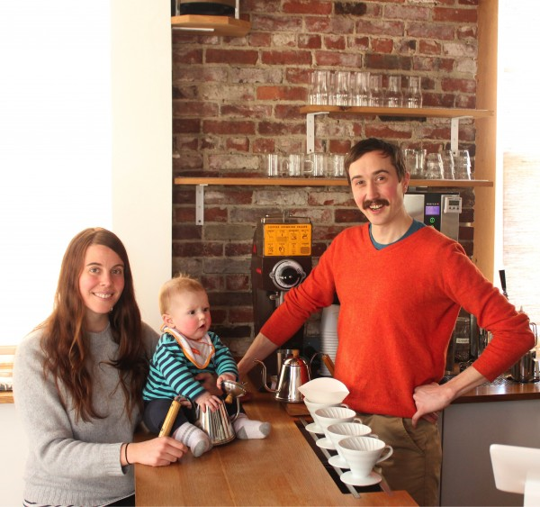 —Kathleen, Claude and Will Pratt of Tandem Coffee Roaster.