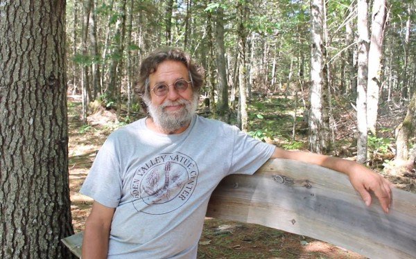 David &quotTracy&quot Moskovitz, co-founder of Hidden Valley Nature Center, sits on a bench by the center's bog boardwalk in Jefferson.