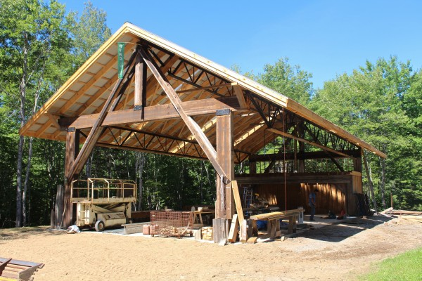 The Barn, the new central building at Hidden Valley Nature Center in Jefferson, will be the location of the Live Edge Music Festival on Sept. 6, 2014, a free open house event with live music and food, as well as outdoor events happening all day long.