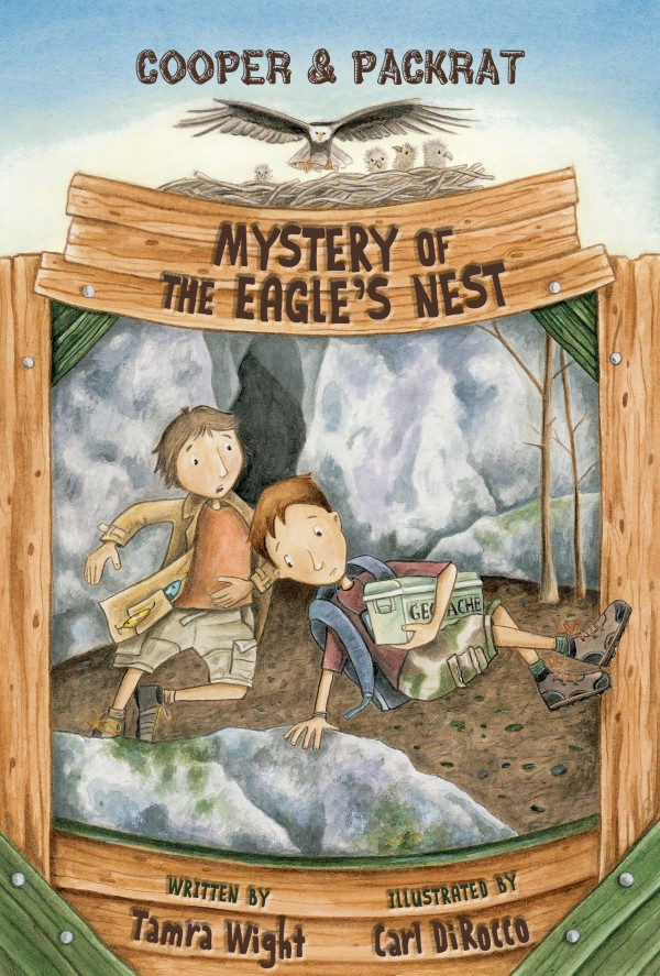 Book cover of &quotMystery of The Eagle's Nest&quot by Tamra Wight of Poland, published in August 2014 by Islandport Press.