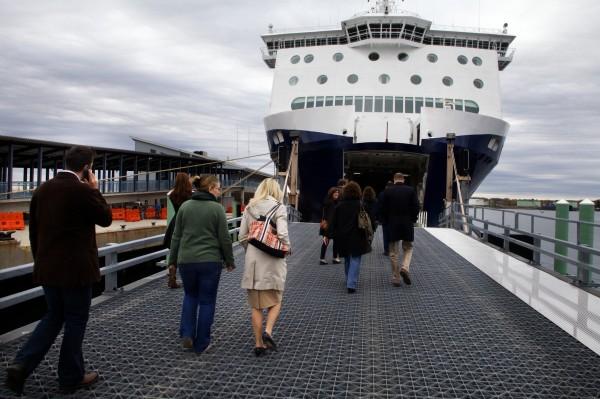 The Nova Star cruise ship travels daily between Maine and Nova Scotia.