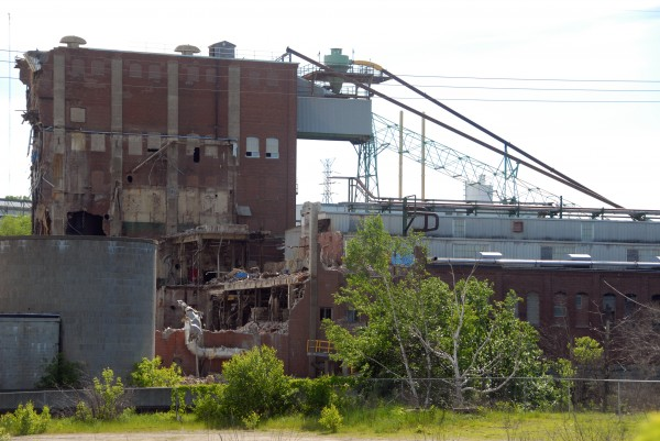 Age and work done by excavators is apparent at the Great Northern Paper Co. site in Millinocket June 16, 2014.