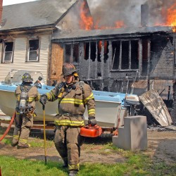 Orrington fire injures three, destroys home