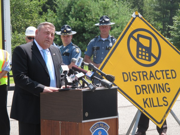 Pike Industries, one of the state's largest paving and highway construction contractors, will partner with the Department of Transportation to place large, yellow warning signs at work zones along the highway.