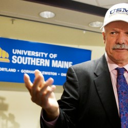 David Flanagan has being named the interim president at the University of Southern Maine in Portland.