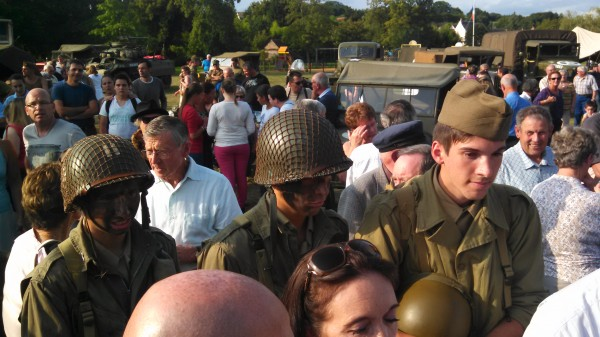 Several hundred residents of Bonnetable, France, and surrounding communities participated in events at Camp Lt. Onias Martin in August to commemorate the sacrifice of Onias Martin and other Allied troops who liberated the area from German occupation 70 years ago.