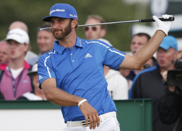 Dustin Johnson, pictured during the British Open on July 20, has reportedly been suspended by the PGA Tour for six months for using cocaine.