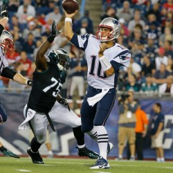 Enfield native Mulligan catches TD pass as Patriots down Falcons