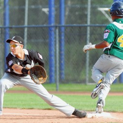 Twin brothers providing a double punch on mound, at plate for Senior League World Series team