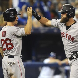 Red Sox go on offensive, rout Blue Jays