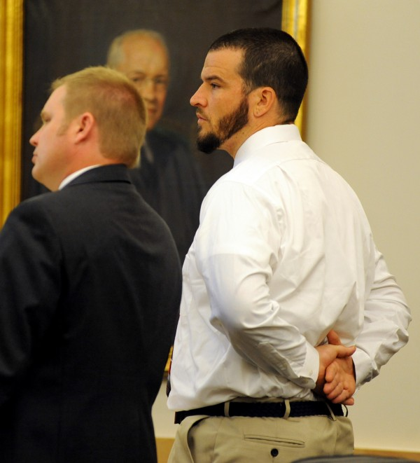 Chester Birmingham pleaded no contest on Monday in the Penobscot Judicial Center in Bangor to three counts of armed robbery and related charges in September 2013.