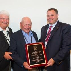 "Photo: L to R AGC America President Al Landes, Bob ""RJ"" Grondin, AGC Maine President Charlie Cianchette."