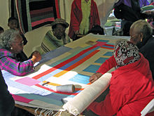 Gee's Bend ladies quilting in 2005
