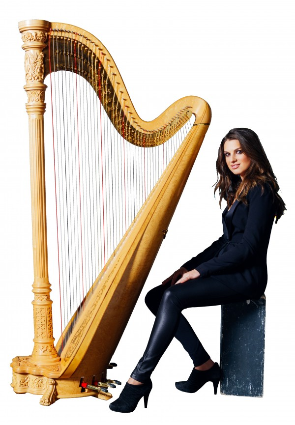 Harpist Bridget Kibbey, featured Sat. Aug. 16