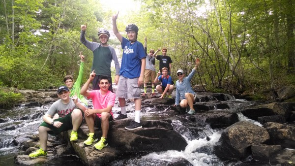 Carroll School boys taking part in Adventure Excursions.