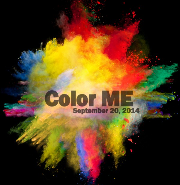 Color run poster for Fort Kent.