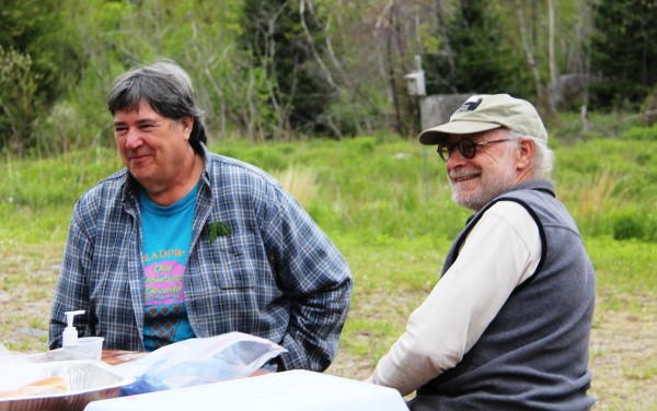 Connie Tuller (left) and Wildlands Steward Brian Keegstra enjoy time in the Great Pond Mountain Wildlands in Orland. Tuller received the trust's Volunteer of the Year at the trust's annual meeting on July 13.