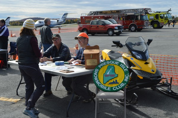 The Presque Isle Snowmobile Club was just one of over nearly 40 organizations or businesses present for the vendor fair at last year's TAKE FLIGHT event.  Some sold food or craft items, while others distributed information on services.  Vendors are being sought for this year's event on October 4.