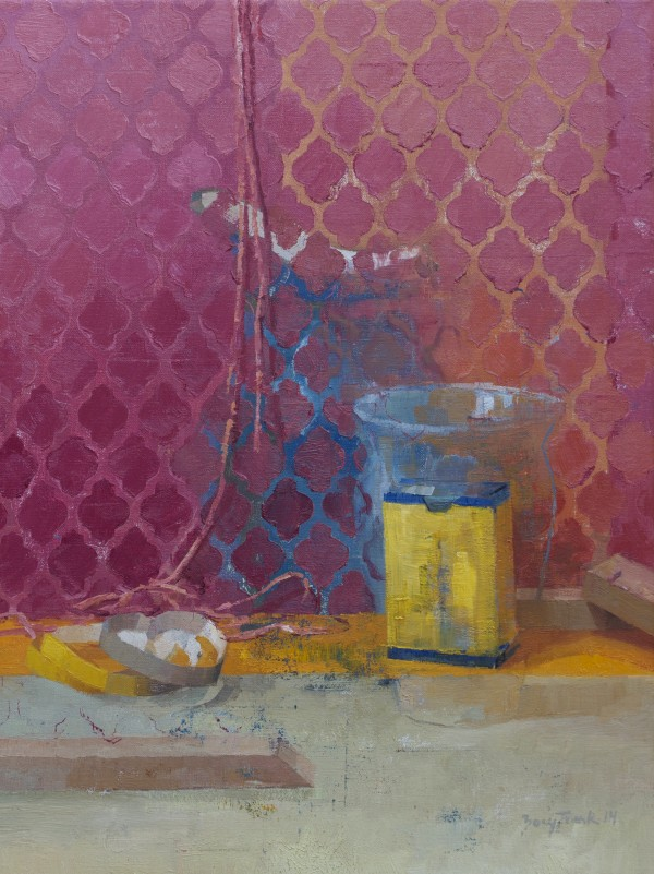 &quotPink Pattern,&quot 2013 Oil on Linen 20 x 15 inches