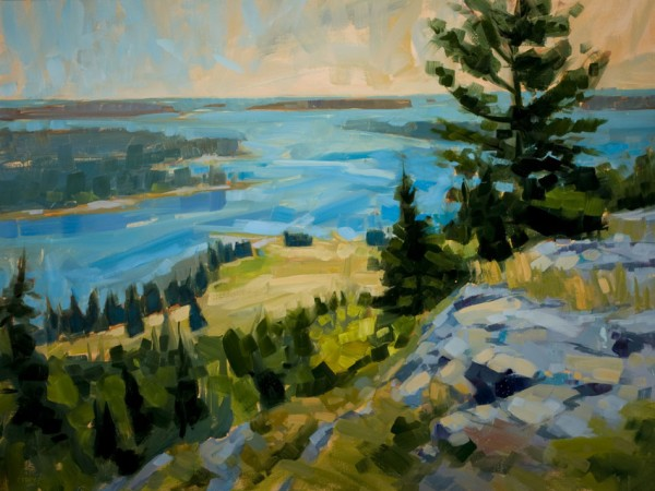 Philip Frey, &quotThe Long View,&quot oil on linen, 30 x 40 inches.