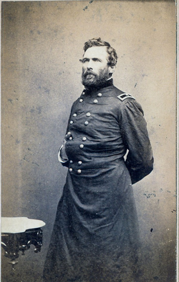 Photo: General Hiram Berry of Rockland, taken by the famous Civil War photographer Matthew Brady. At the beginning of the Civil War, Berry went to Augusta and offered his services to the Governor and was given orders to recruit a regiment. He participated in the First Battle of Manassas; for his gallant service at Bull Run he was promoted to brigadier general in March 1862. He was promoted to Major-General on November 29, 1862. Berry was placed in command of the 2nd Division of the III Corps, succeeding Major General Daniel Sickles, who had ascended to corps command. Berry was killed by a sharpshooter at 7:26 am on May 3, 1863, at the Battle of Chancellorsville.