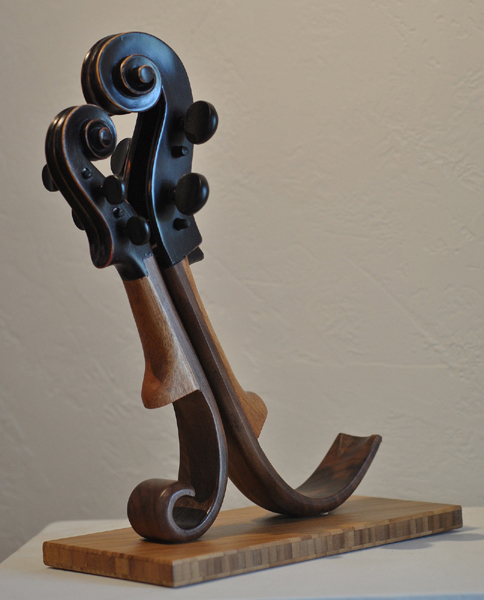 1st Place,  Black Tango, Wood sculpture by Philippe Guillerm