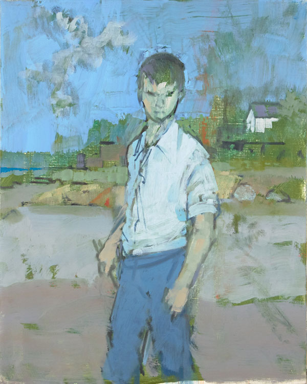 John Heliker, &quotSketch of a Young Clamdigger,&quot 1990, oil on canvas, 20 x 16 inches.