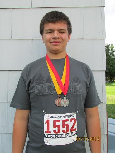 Shot put, discus throw medalist