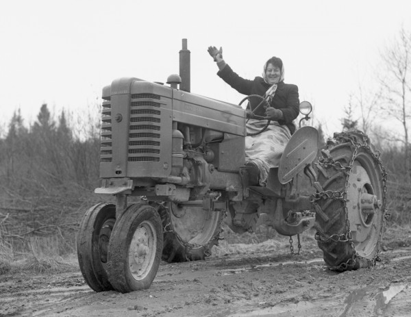 In April of 1953 the rain had turned side roads into quagmires, but that did not faze Mrs. Hazel Strout of Charleston, a second- and third-grade teacher at North Bradford schools. Mrs. Strout found the tractor just the thing for driving the 1 1/2 miles from her home to the main road to meet the school bus. The tractor was left in a neighbor's yard until the return trip.