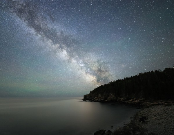 Hampden-based photographer Nate Levesque captures the Milky Way from Otter Point at Acadia National Park.