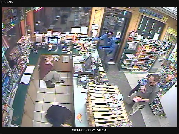 Police are investigating an armed robbery at Dysart's Travel Stop in Newburgh.