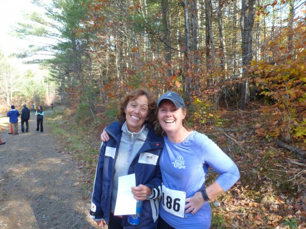 Lorna Fake and Kami Peasley were proud finishers of last year's 5.5-mile race.