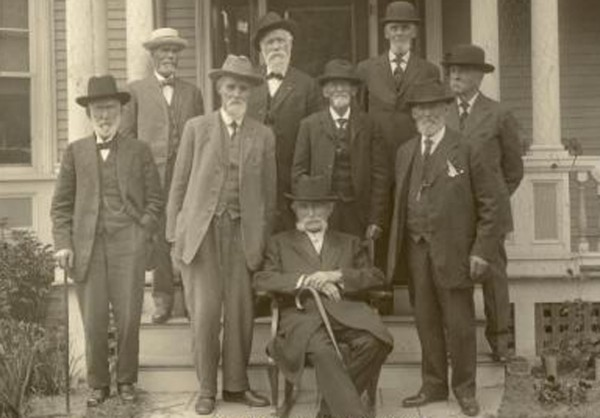 This photo of the Pioneer Club was taken in 1915 outside the Elisha Parkhurst house on the corner of Church and Third Streets in Presque Isle.  The Pioneer Club is the topic of an upcoming presentation by the Presque Isle Historical Society in the conference center at TAMC on Wednesday, September 3, at 5:30 p.m.