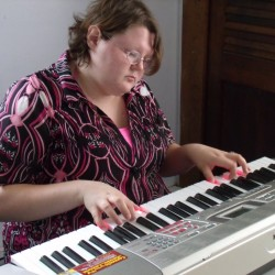 """I really feel at home on the keys,"" said Shaw House resident Marsades Curit at a Wednesday morning jam session."