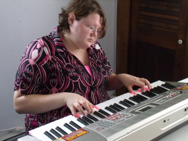 &quotI really feel at home on the keys,&quot said Shaw House resident Marsades Curit at a Wednesday morning jam session.