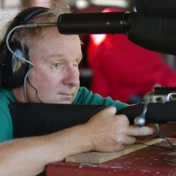 Blind man's device helps him shoot gun