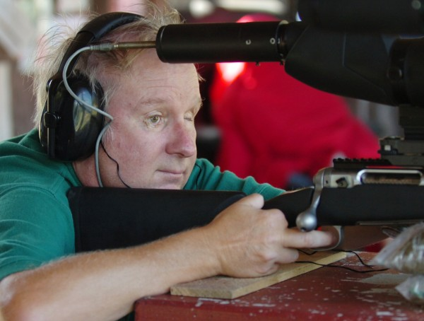 &quotI can't go back, I gotta go forward,&quot James &quotJim&quot Miekka of Surry said while target shooting at the Orrington Rod and Gun Club on Tuesday, Aug. 24, 2010.