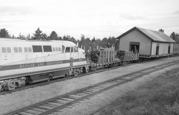 PICTURE OF THE PAST A Hudson warehouse purchased by the Bangor Daily News in August 1951 was moved on three flat cars to North Bangor Station by a diesel engine belonging to the Bangor and Aroostook Railroad. The 27-foot-by-70-foot building was joined to two other storehouses on the new site.