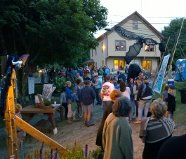 The Black Fly Ball, hosted by  the Beehive Collective, is one of the Blueberry Festival's most popular events.