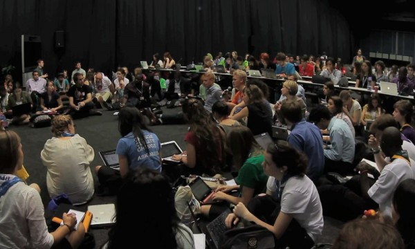 Members of COA's Earth in Brackets are pictured taking part in a UN forum in Durban, South Africa, in 2011.