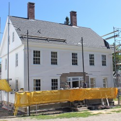 The Castine Historical Society's Grindle House, c. 1850, currently undergoing renovation.