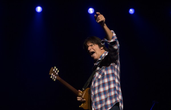 John Fogerty amps up the crowd during his show Saturday at Cross Insurance Center in Bangor.