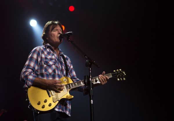 John Fogerty sings during his show Saturday at Cross Insurance Center in Bangor.
