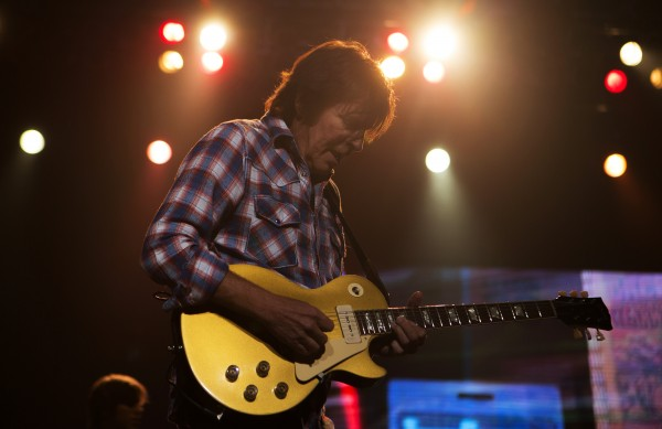 John Fogerty plays the guitar during his show Saturday at Cross Insurance Center in Bangor.