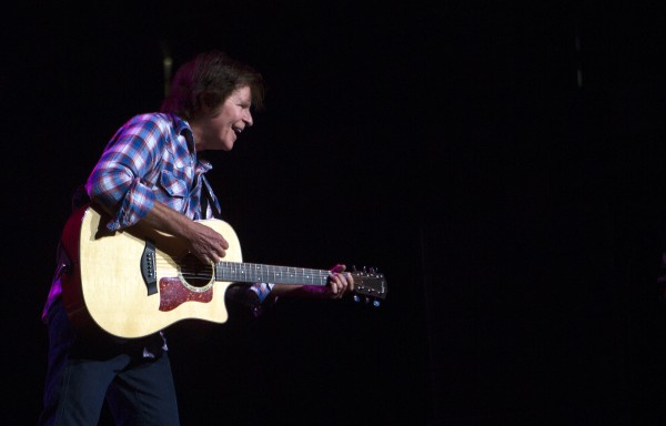 John Fogerty looks to the crowd during his show Saturday at Cross Insurance Center in Bangor.