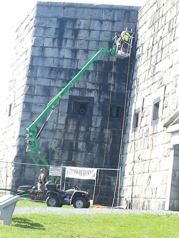 Masonry restoration funded by Friends of Fort Knox