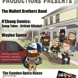 Mallett Brothers Band, Waylon Speed to perform in Camden