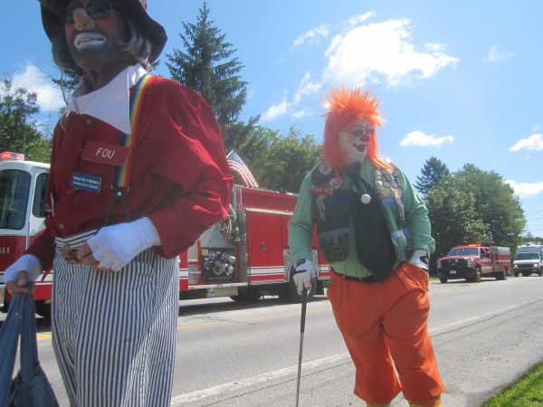 A couple of the Anah Temple Shrine clowns who interacted with the parade watchers along Route 2.