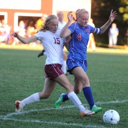 Bangor uses first-half goals from Eve George, Mary Butler to edge Brunswick 2-0