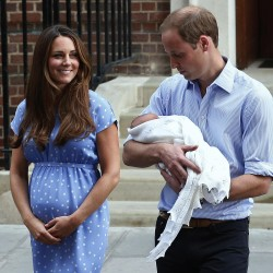 Kate and William show off Britain's new prince